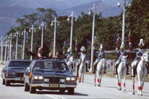 1994. Febrero, 3. Desfile militar en Los Próceres con motivo de la toma de posesión.