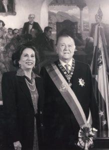 1994. Febrero, 7. Pareja Presidencial para el período constitucional 1994-1999, en La Casona.