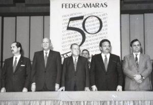 1994. Julio, 12. En la celebración del 50 Aniversario de Fedecámaras, en el Teatro Teresa Carreño, Caracas.