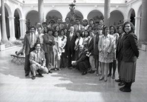 1994. Julio, 7. Almuerzo con los periodistas acreditados en Miraflores.