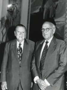 1994. Marzo, 16. Encuentro con Jacinto Convit en el Palacio de Miraflores.