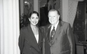 1994. Septiembre, 16. Visita de Kristina Wetter al Palacio de Miraflores.