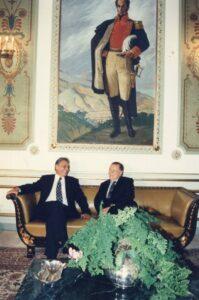1995. Julio, 4. Visita oficial del presidente del Brasil, Fernando Henrique Cardoso. Encuentro en Miraflores.