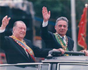 1995. Julio, 5. Desfile militar en Los Próceres.