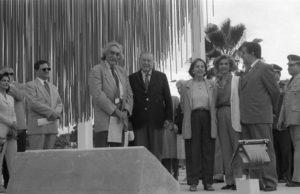 1996. Diciembre 8. Inauguración de la Esfera Soto en el distribuidor Santa Cecilia de la autopista Francisco Fajardo, en el marco del programa Un cariño para mi ciudad.