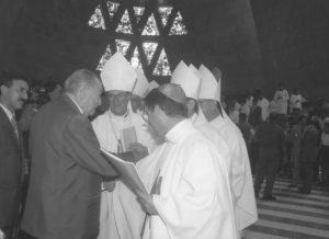 1996. Enero, 7. Consagración del Templo Votivo a Nuestra Señora de Coromoto en Guanare, estado Portuguesa.