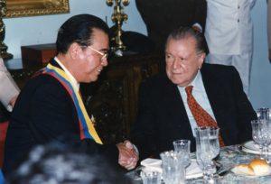 1996. Noviembre, 13. Imposición del Gran Cordón de la orden del Libertador y almuerzo en honor de Li Peng, primer Ministro de la República Popular China,