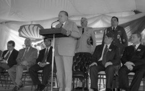 1997. Julio, 26. Inauguración de la planta de lubricantes Shell en Valencia, estado Carabobo.