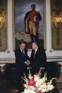 1997. Noviembre, 10. Visita oficial del presidente de Portugal, Jorge Sampaio. Encuentro en el Palacio de Miraflores.