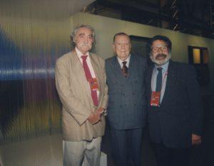 1998. Abril, 18. Visita a Chile, con Jesús Soto y Carlos Cruz-Diez.