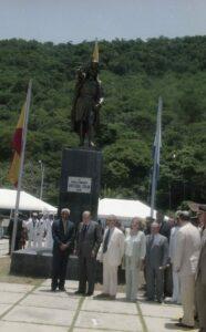 1998. Agosto, 5. Conmemoración del V Centenario de la llegada de Colón a Macuro, estado Sucre.