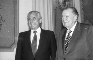 1998. Diciembre, 11. Visita a Miraflores del excandidato presidencial Henrique Salas Romer.