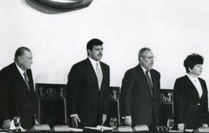 1998. Enero, 23. En el Congreso Nacional, Cristóbal Fernández Daló, Ramón Guillermo Aveledo y Cecilia Sosa Gómez.