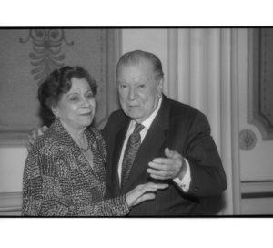 1998. Noviembre, 6. Encuentro con María Teresa Castillo en el Palacio de Miraflores.
