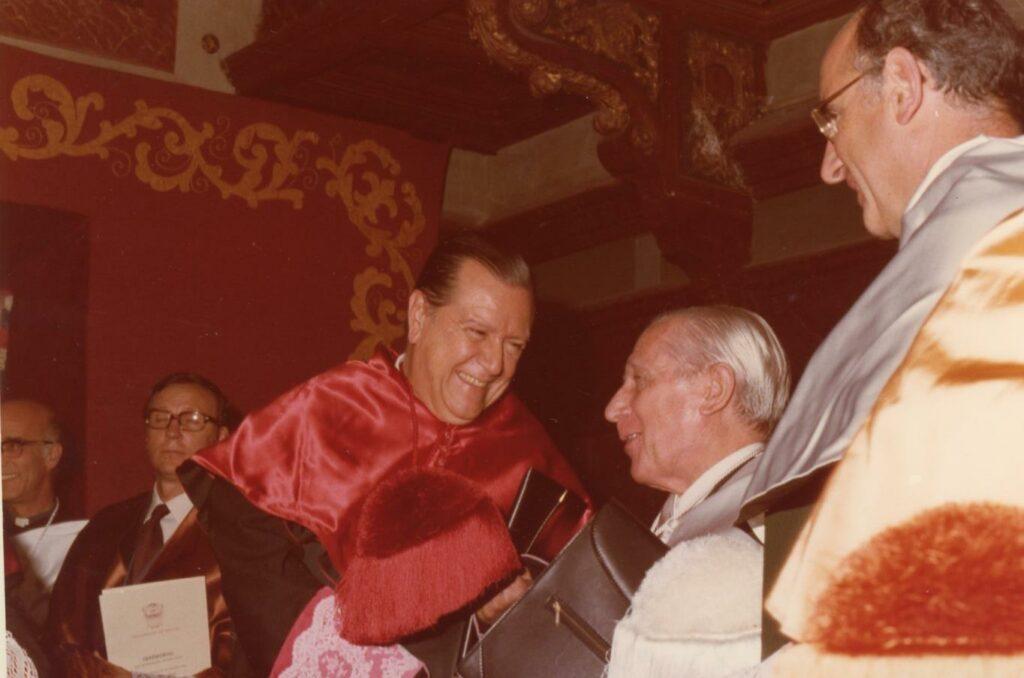 Rafael Caldera homenaje en el País Vasco