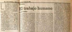 Rafael Caldera - 1989. Junio, 28. El trabajo humano