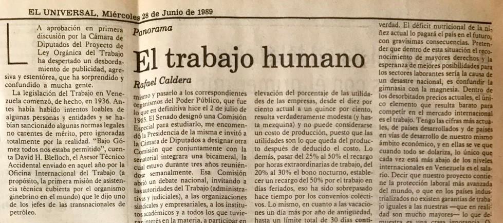 1989. Junio, 28. ALA / El Universal: El trabajo humano