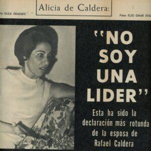 1967. Junio, 13. Reportaje sobre Alicia Pietri de Caldera en «Páginas»