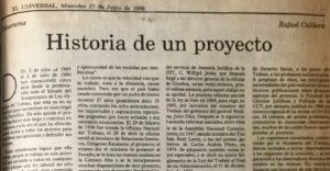 Rafael Caldera - 1990. Junio, 27. ALA El Universal Historia de un proyecto