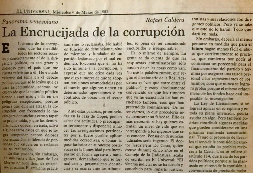 La encrucijada de la corrupción