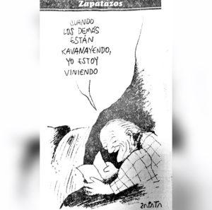 Zapatazo sobre Rafael Caldera, 1 de abril de 1997
