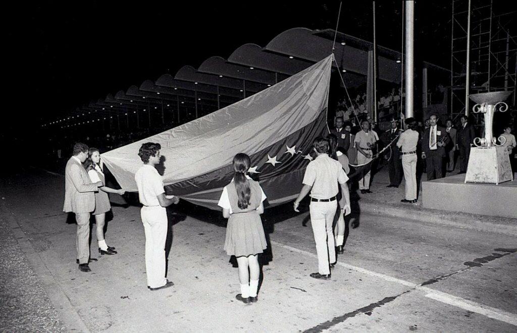 Actos día de la bandera 1973