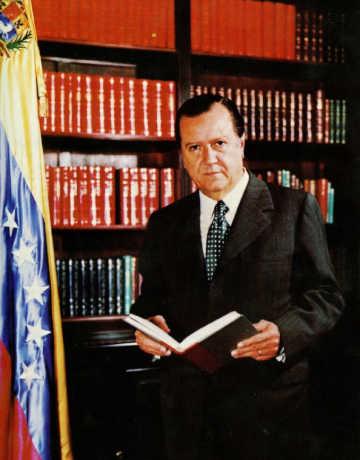 Rafael Caldera - 1972. En la residencia presidencial La Casona, Despacho Presidencial.