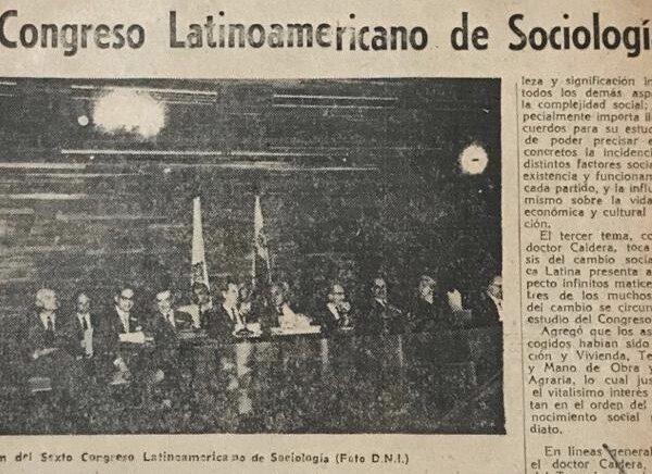 Rafael Caldera - VI Congreso Latinoamericano de Sociología 1961