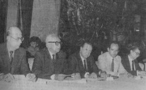 1985 Mayo 30. Conferencia COPRE Arnaldo Gabaldón Ramón J Velásquez RC Carlos Blanco Luis Enrique Oberto (2)