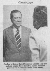 1977 Agosto 26 Entrevista Olmedo Lugo para El Universal