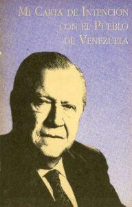 Rafael Caldera. Mi carta de intención con el pueblo de Venezuela 1993.