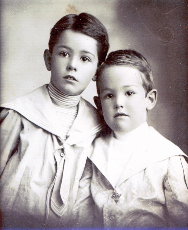 One last kid photo.  Not dated, it is the by now familiar, Cartmell and M.Warder a bit more developed.
