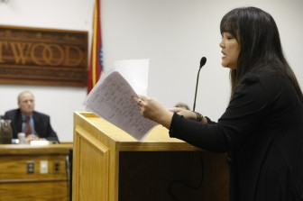 Paige Russell told about a dog being found with a Brentwood dispatcher's help, and said what if that had been a child.