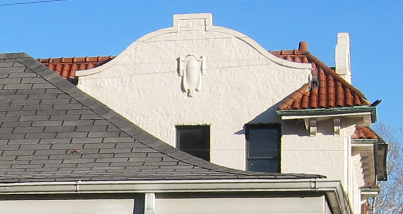 This photo clearly shows the elegant curve of the roof as it approaches the eave.