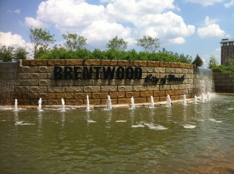 Brentwood's  fountain at Eager Road and Brentwood Boulevard.
