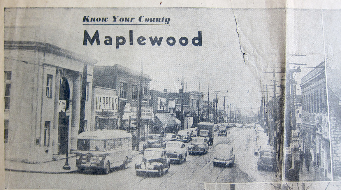 Undated (may have been my fault when I copied it) newspaper clipping.  Courtesy of the Maplewood Public Library.