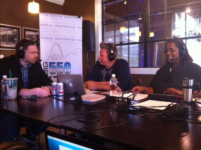 McGraw Milhaven and Kelly Jackson talk with Basso executive chef Patrick Connolly on KTRS at the St. Louis Closet Company.