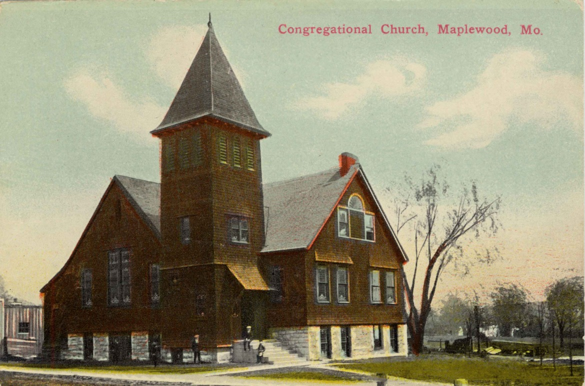 Here is a postcard view of the Congregational Church seen in the earlier photos.  Thanks to Donna Rakowski