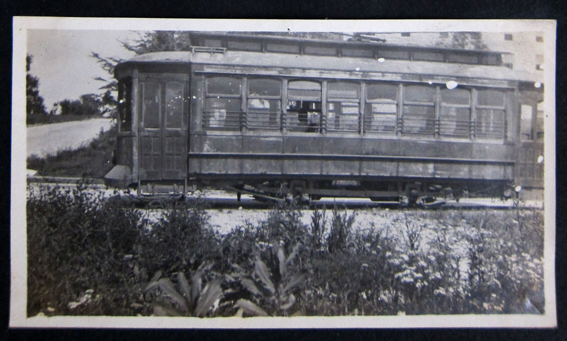This streetcar photo is located between other photos of the college buildings at Cape Girardeau.