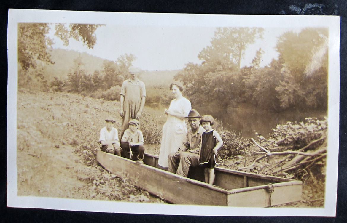 And here is the family on a fishing trip.