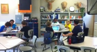 Students work in a modular classroom at MRH Elementary.