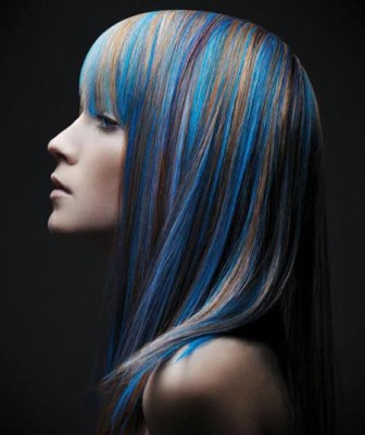 Colored-hairstyle