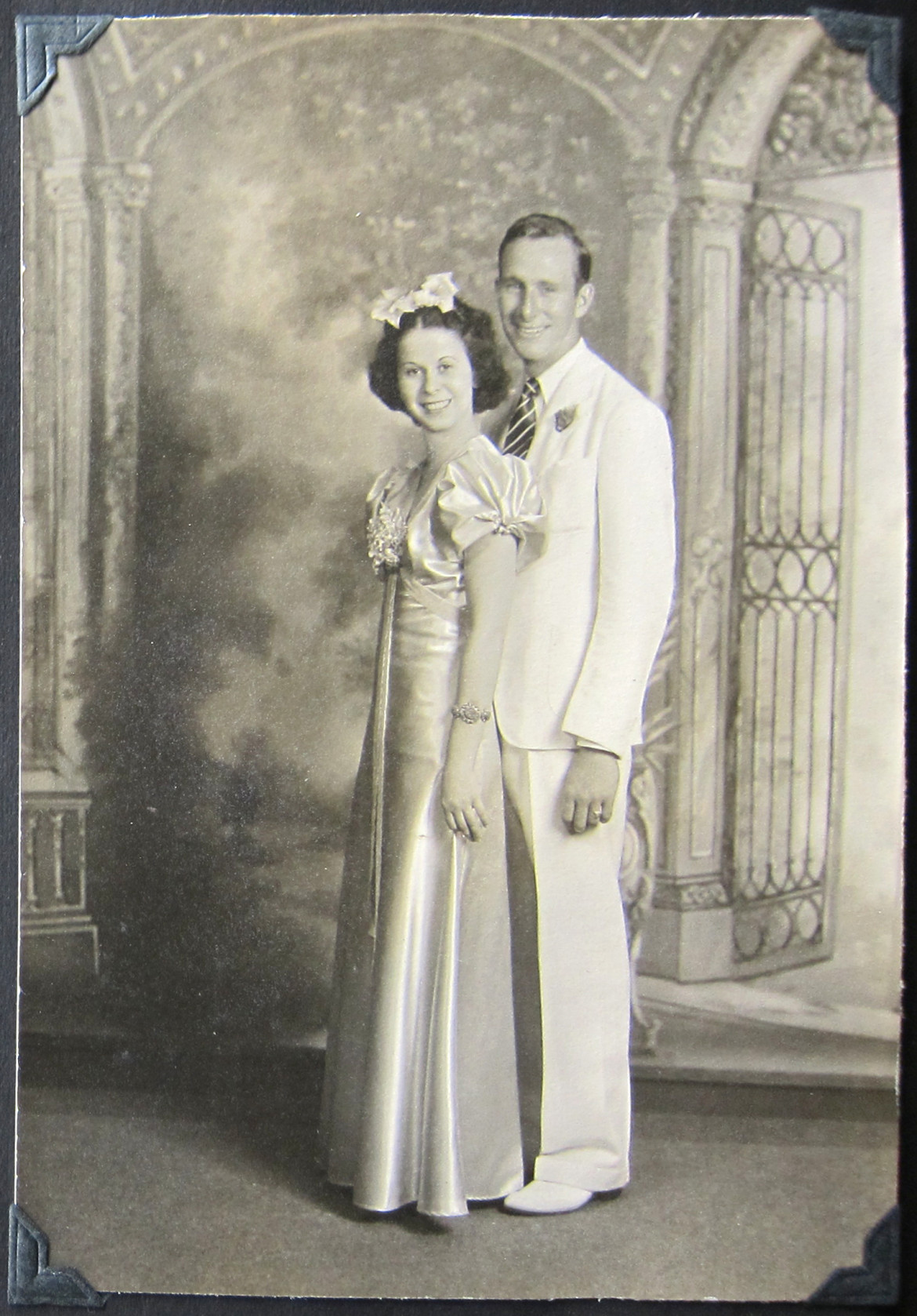 Marjorie and Bob.  A prom photo maybe?