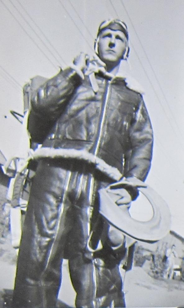 Bob's friend/brother wearing his flight gear.