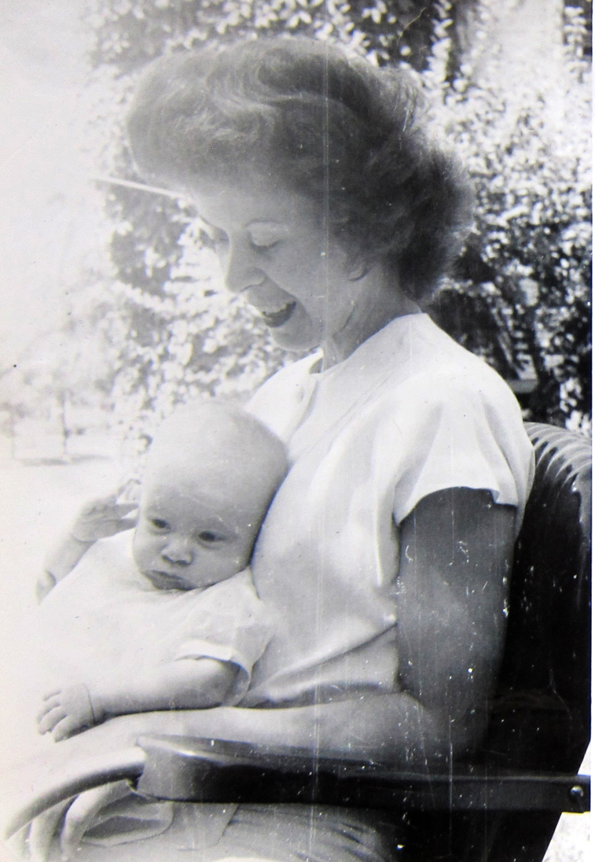 Marjorie and her baby.  From conversations I had with Matt Irwin, I believe her child was a little girl.