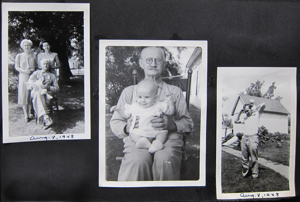 Marjorie's grandmother doesn't seem to be in these photos taken at what I assume is their home.  On the right is the last photo in the album of Bob Irwin with his child on his shoulders.  We are glad you made it through the war, Bob.  I think they're are still enough interesting photos in the Matt Irwin collection for a couple more posts but I'll get back to them in a while.  Coming up I'm planning a series on the Maplewood Mill complex which includes the building that has been home to Saratoga Lanes since it was built in 1916.  Stay tuned.