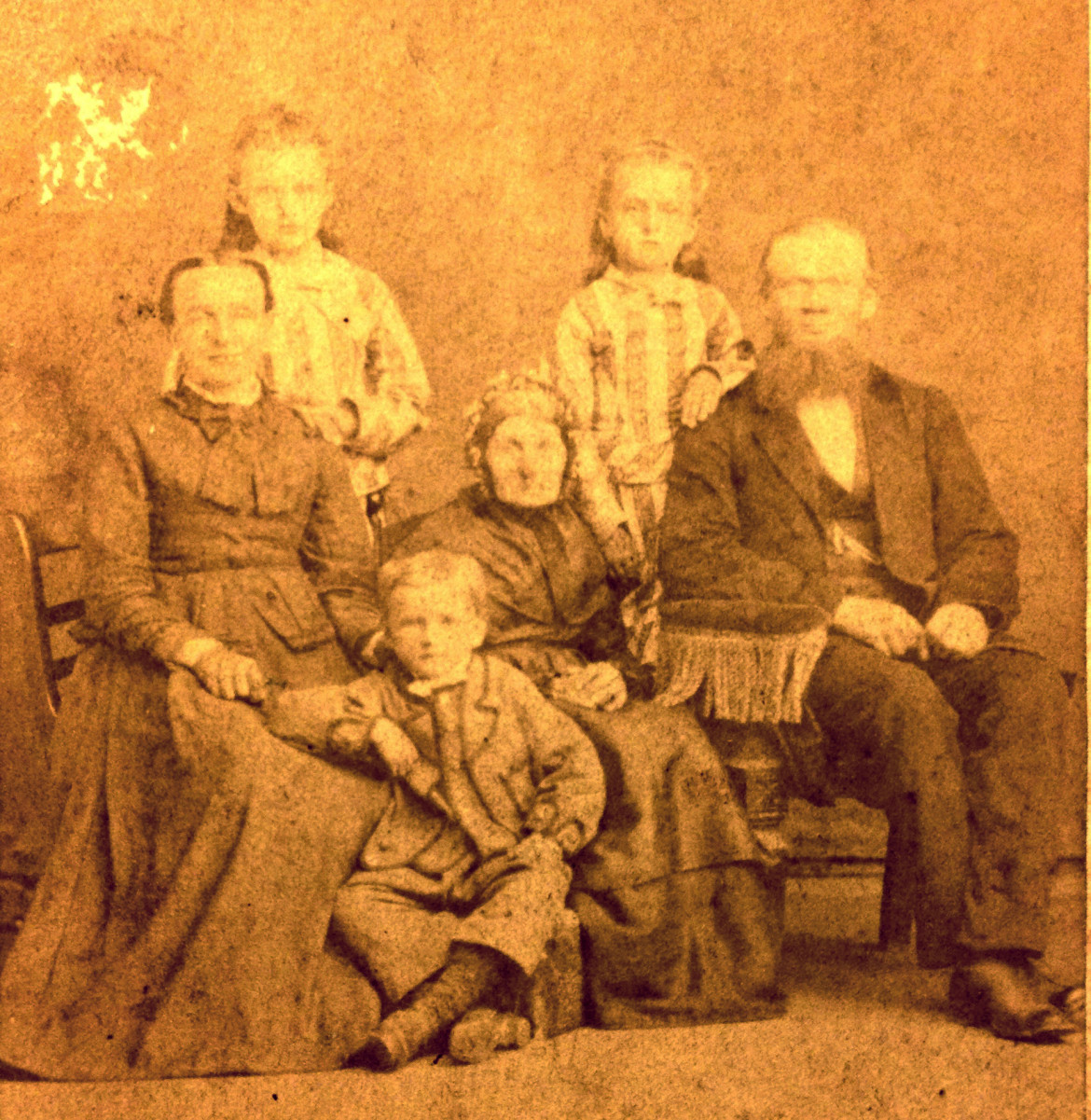 "Pat Baker in an email describes the photo above.  ""…William's father was Wm ""Theodore"" F Koester--he and his sibs and parents emigrated from Germany in 1857 and they settled in Manitoba, Canada. Theodore, a saw miller, met and married Catherine Vogt there, but after they had 3 children, for some reason his family alone left Canada and emigrated to Alabama in 1881 to begin farming.  (William Christian Koester is the boy in the photo. DH)"