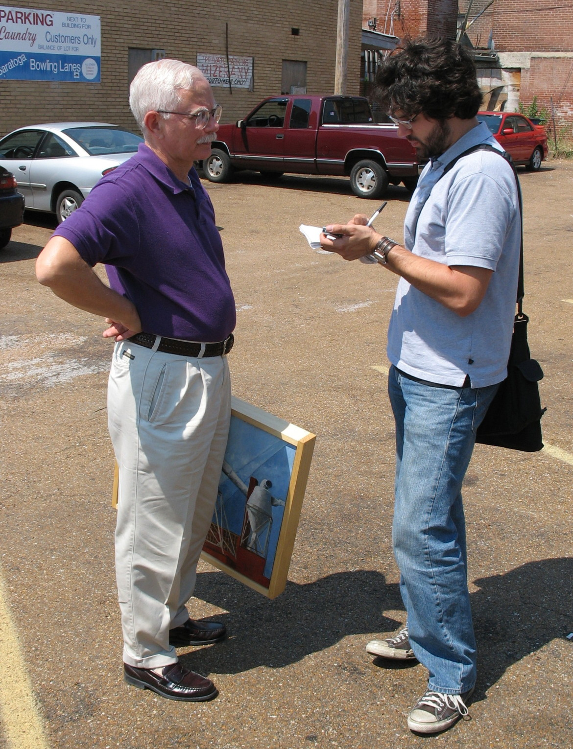Ryan Heinz of The Mid-County journal interviews the artist Steve Turner.  ryan's front page article was the best publicity we could muster.