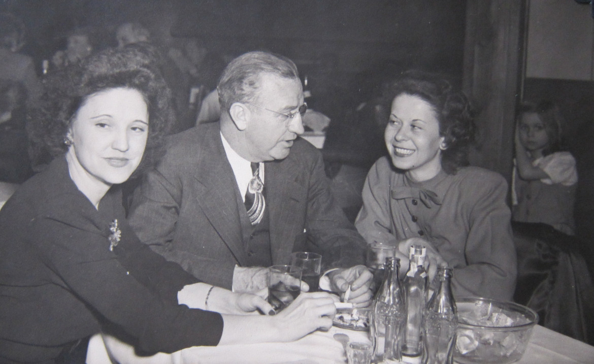 I'll close this post with this interesting photo.  Followers of Maplewood History may recognize the attractive young woman on the right.  She is Marjorie Slavik Irwin, star of a number of posts earlier this year.