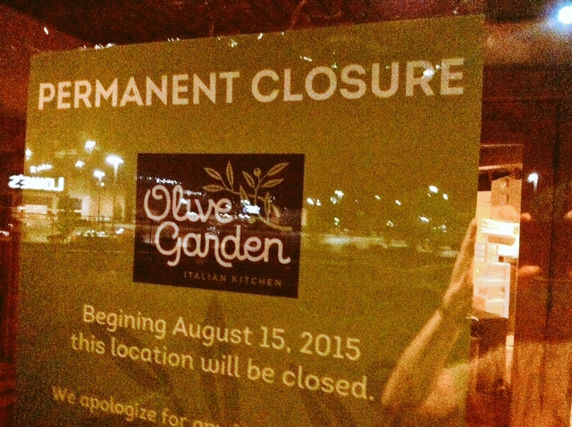 Olive Garden Closes 40 South News